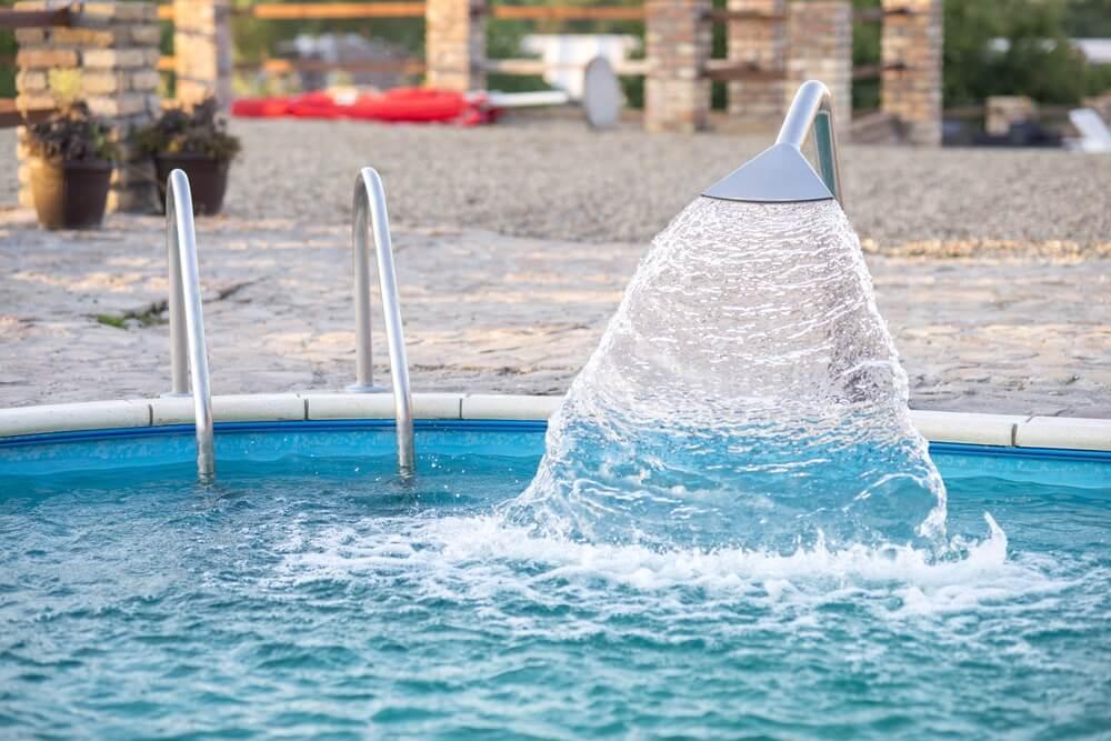 Swimming pool waterfall water pool sprinkler
