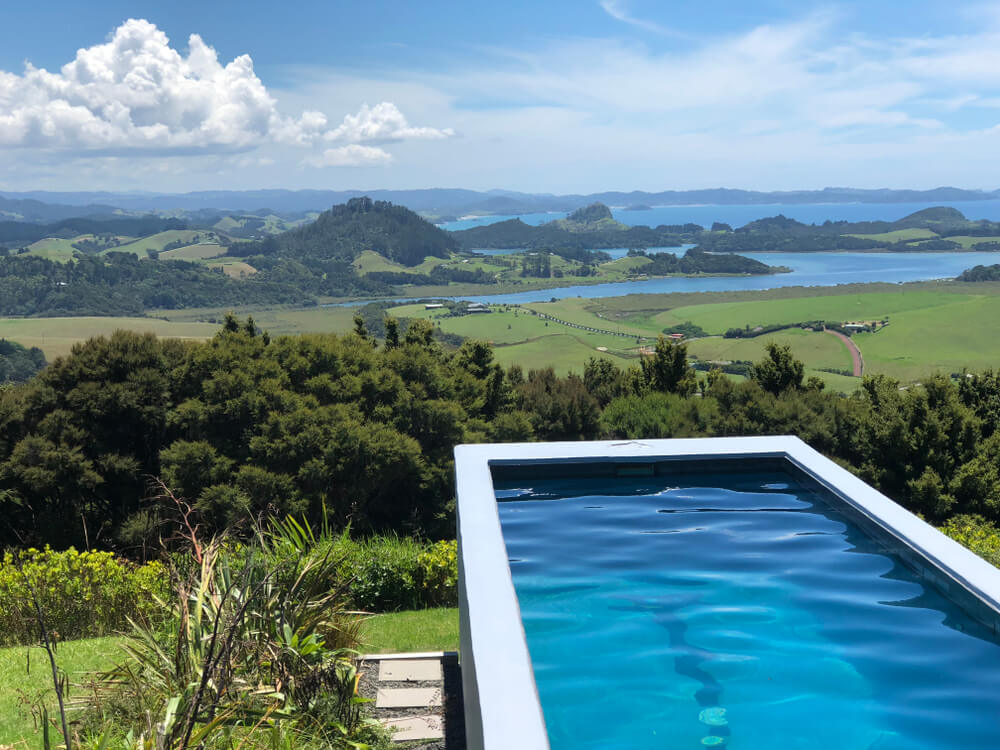 Lap Pool in New Zealand With Magical View