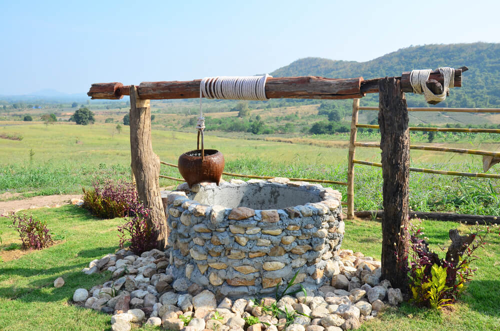 Water-Well at Viewpoint in Winter Season at Ban Kha